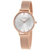 Skagen Anita Silver Dial Rose Gold-tone Ladies Watch SKW2151