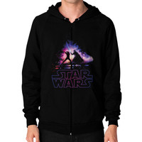 Lightsaber Duel Zip Hoodie (on man)