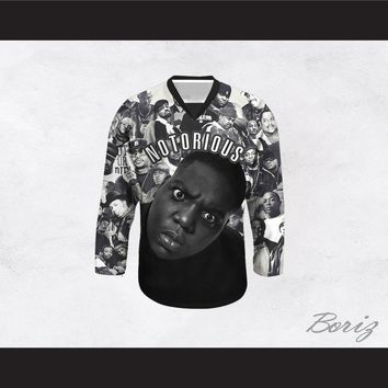 Notorious B.I.G. 21 Rap Legends Hockey Jersey