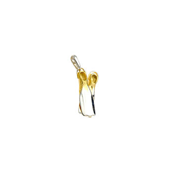 Scuba Doo Flippers Sterling Silver Gold Charm
