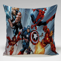 marvel superhero cover comic Square Pillow Case Custom Zippered Pillow Case one side and two side