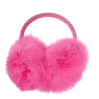 Women's Soft Fuzzy Fur Winter Warm Adjustable Earmuffs Earwarmer