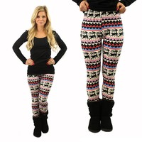Twas The Night Before Christmas Patterned Leggings