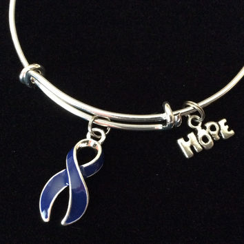 Blue Dystonia Awareness Expandable Charm Bracelet Adjustable Bangle Expandable Bracelet Gift Arthritis Colon Cancer