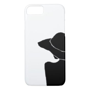 Woman with hat iPhone 8/7 case