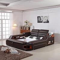 Genuine Leather Bed For  Bedroom Furniture