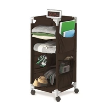 The Dorm Swivel Storage Cart - Black College Products Cool Dorm Storage Supplies Must Have College Accessories