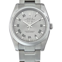 Rolex Airking Grey Dial Domed Bezel Mens Watch 114200GYRO