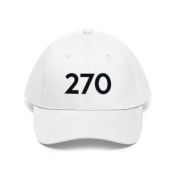 Illinois 270 Area Code Embroidered Twill Hat BLACK