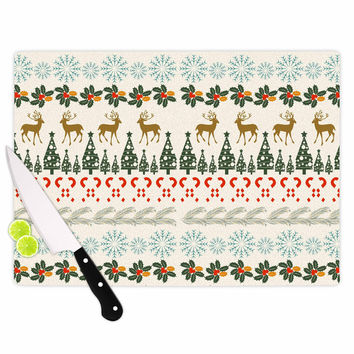 "Famenxt ""Christmas Vibes"" Holiday Pattern Cutting Board"