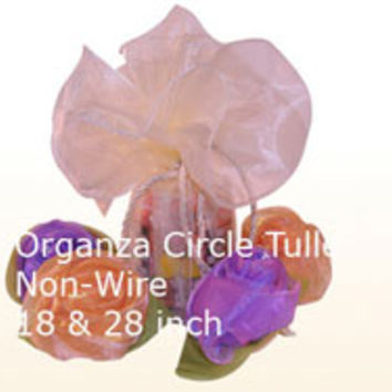 Giant Organza Circle Wrapper 18 & 28 Inch - BBCrafts
