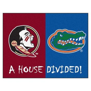 Florida State Seminoles-Florida Gators NCAA House Divided NCAA All-Star Floor Mat (34x45)