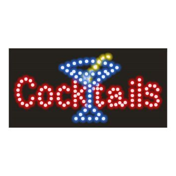 Cocktail Neon Lights LED Animated Customers Attractive Sign 110V