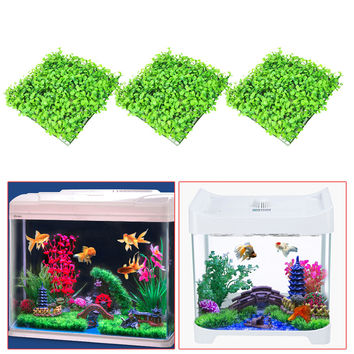 3Pcs Artificial Green Grass Plant Lawn Aquarium Fish Tank Landscape Garden Supplies Aquarium Decorations Ornaments