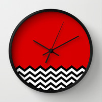 Black Lodge Dreams (Twin Peaks) Wall Clock by Welcome To Twin Peaks