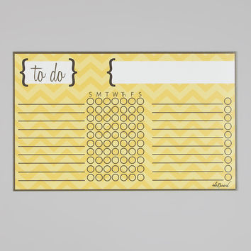 Chore Chart - Yellow Chevron Stripe Kids Organization.