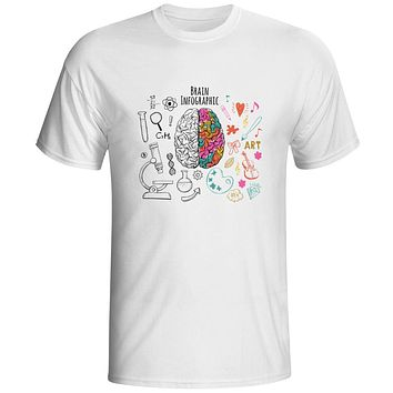 GeekBrain Specialty T-Shirt Science Chemistry Biology Art Geography Math Physics Cool Smart Fashion T-Shirt Casual Funny Style Unisex T-Shirt