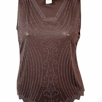 MSK Women's Caviar Beaded Blouse
