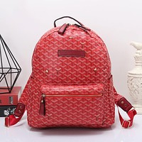 Goyard Women Leather Bookbag Shoulder Bag Handbag Backpack