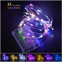 9colors 2M / 5M 20/ 50 LEDs RGB Holiday Lighting LED Copper Wire String Fairy Light Strip Lamp Xmas Home Party Decor Waterproof