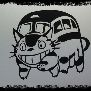 Neko Cat Bus From Totoro Vinyl Decal Laptop Macbook Wall & Car Art : Cheshire Skin Sticker