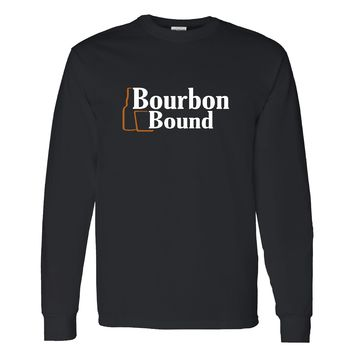 Bourbon Bound Official Logo on a Long Sleeve Black T Shirt