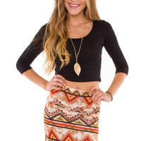 Lani Crop Top - Black