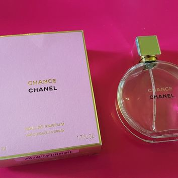 Chanel Chance Empty Perfume Bottle and Box 50ml - With Chanel Gift Bag & Ribbon