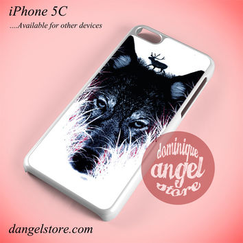 Deer On Wolf Phone case for iPhone 5C and another iPhone devices