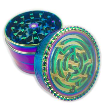 Rainbow Hologram Grinder- Maze Edition