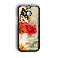 Dance Like No One Is Watching - Altered Art Collage Ballerina HTC One M8 Case