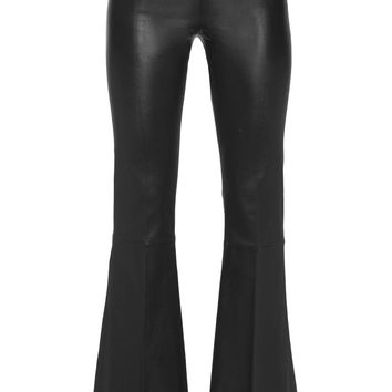Rhise stretch-leather flared pants | By Malene Birger | UK | THE OUTNET