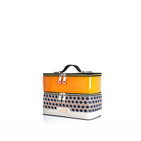 River Island Womens Orange geo print vanity case