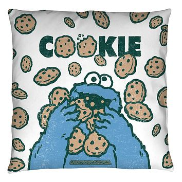 Sesame Street Cookie Monster Cookie Crumble Throw Pillow