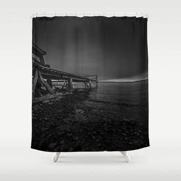 On the wrong side of the lake 6 Shower Curtain by HappyMelvin