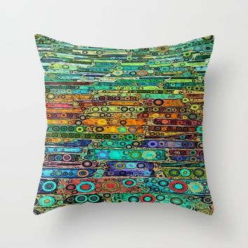 :: Technicolor Walkway :: Throw Pillow by :: GaleStorm Artworks ::