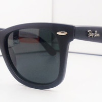 New Rayban Wayfarer RB2140 Matte Black from Sunglass Mania
