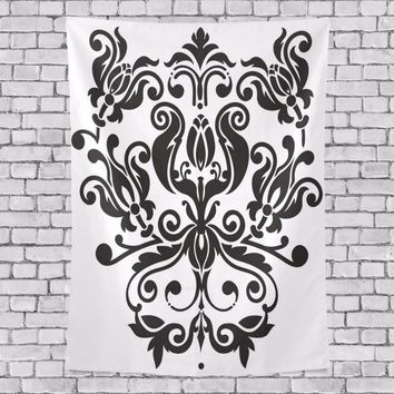 Black Bohemian Mandala Wall Tapestry Hippie Polyester Indian Sandy Beach Towels Yoga Mat Picnic Blanket Throw Rug Wall Carpets