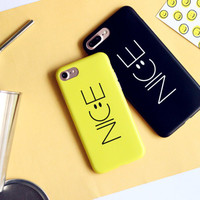 High-quality Nanometer Protect Smiling Face NICE Cover for iPhone 7 7Plus & iPhone 6 6s Plus & iPhone 5s se Case +Gift Box-E15
