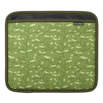 Green Jungle Birds Sleeves For iPads