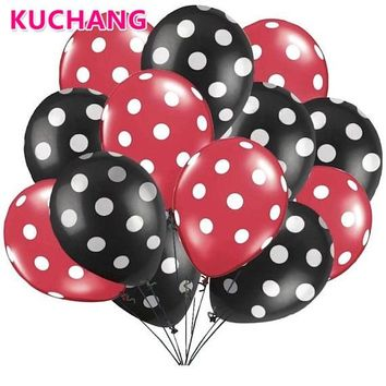 10pcs/Lot Latex Balloons 2.8g Polka Dot Ladybug Wedding Decorations Supplies Baby Shower Minnie Mickey Mouse Party Balloons Ball