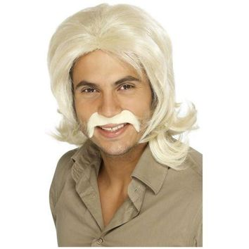 70s Costume Wig for Men Adult Disco Halloween Fancy Dress