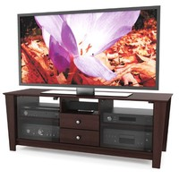Sonax TR-7608 Torino 60-Inch TV/Component Bench in Florence Maple