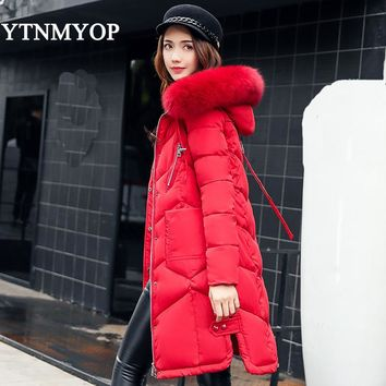 Women Coat Jacket Medium Length Woman Parka With A Hooded Winter Thick Coat Women YTNMYOP 2017 New Winter Collection Hot Sale