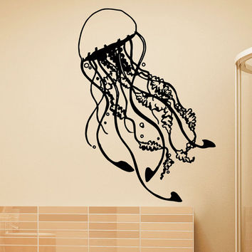 Vinyl Wall Decals Jellyfish Sea Ocean Marine Animal Sticker Home Wall Decor Art Mural Z735