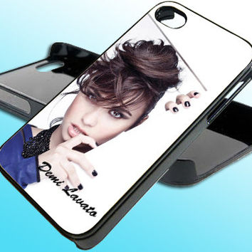Demi Lavato for iPhone 4/4s Case - iPhone 5 Case - Samsung S3 - Samsung S4 - Black - White (Option Please)