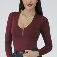 Flames to Dust Body Suit - Burgundy