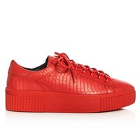 KENDALL + KYLIE   Reese Platform Sneaker - Red Leather