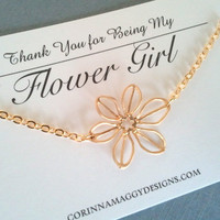 Sunflower Necklace, Silver or Gold, bridal party gift, wedding jewelry, flower girl gift, sister, daughter, birthday gift, children, kids