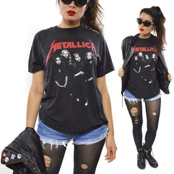 Vintage 80s Metallica ...And Justice For All T Shirt Sz L